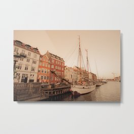 By the Nyhavn Metal Print