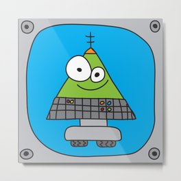 Triangle Robot Metal Print