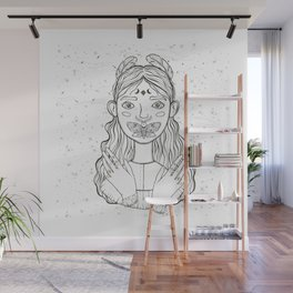 Girl And Buttefly Wall Mural