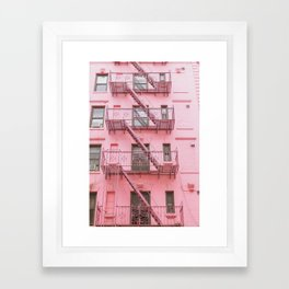 Pink Soho NYC Framed Art Print