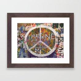 Imagine - Lennon Wall Framed Art Print