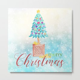 Merry Christmas tree #4 Metal Print