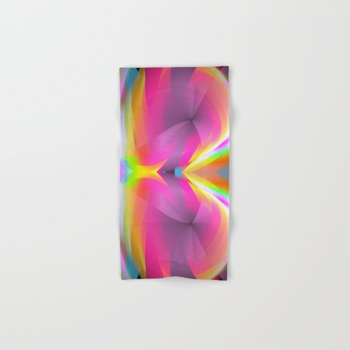 Abstract in rainbow colors and an optical effect Hand & Bath Towel
