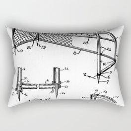 Soccer Patent - Soccer Goal Art - Black And White Rectangular Pillow