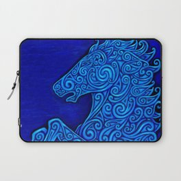 Blue Celtic Horse Abstract Spirals Laptop Sleeve