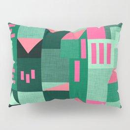 Green Klee houses Pillow Sham