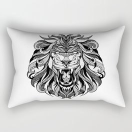 Angry Lion - Drawing Rectangular Pillow