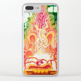Spirit in Flames Clear iPhone Case