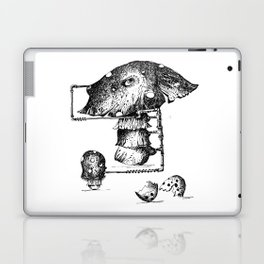 Funy Mushroom Mother Breastfeeding Her Newborn Daughter After Exiting The Egg Grphc Laptop & iPad Skin