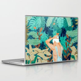 Backyard #illustration #painting Laptop & iPad Skin