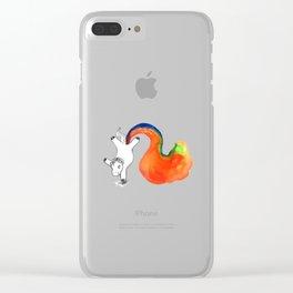 Rainbow Farting Unicorn College Dorm Decor Clear iPhone Case