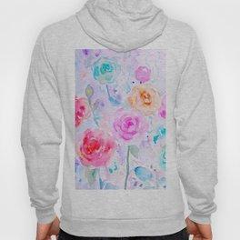 Watercolor Abstract Ranunculus Pattern Hoody