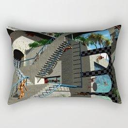 Optical Illusion - Tribute to Escher Rectangular Pillow