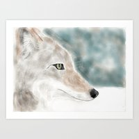 coyote Art Prints featuring Coyote by sub_o