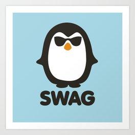 SWAG Pinguin Art Print