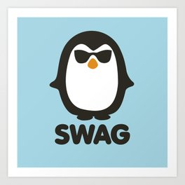 SWAG Pinguin Art Print