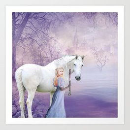 snow princess Art Print