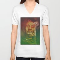 marley V-neck T-shirts featuring Marley by Robotic Ewe