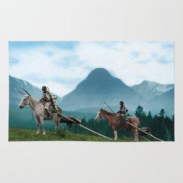 Waiting For The Hunters - Blackfoot Indian Women Rug