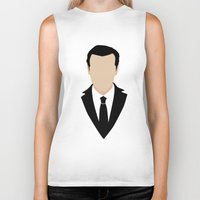 moriarty Biker Tanks featuring 3 Jim Moriarty by Alice Wieckowska