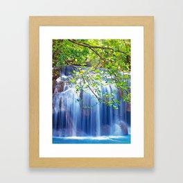 Erawan waterfall Framed Art Print