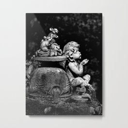 The cherub and the mice Metal Print