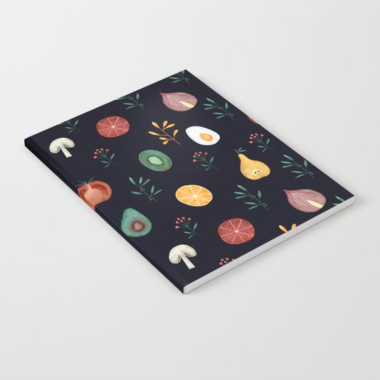 Vegetables pattern Notebook