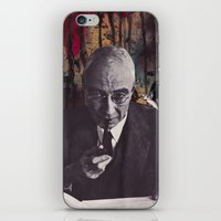 philosophy iPhone & iPod Skins featuring The Philosophy of Composition by Collage Calamity
