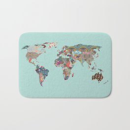 Louis Armstrong Told Us So (teal) Bath Mat