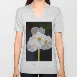 White blooming flower Unisex V-Neck