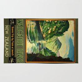 Vintage poster - Wanganui River Rug