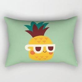 Sunny Funny Pineapple Rectangular Pillow