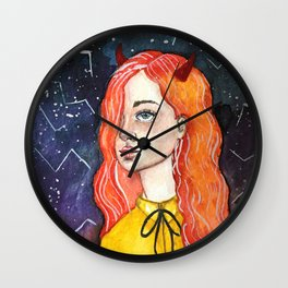 Evil Girl Wall Clock