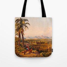 Illustrations Of Guyana South America Natural Scenes Hand Drawn Tote Bag