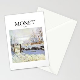 Monet - La Pie Stationery Cards