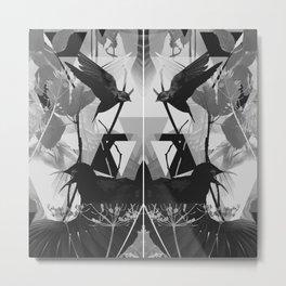 Taxidermy Grey Metal Print