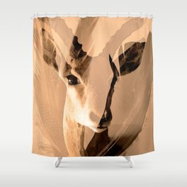 Beautiful and fast - Impala portrait Shower Curtain