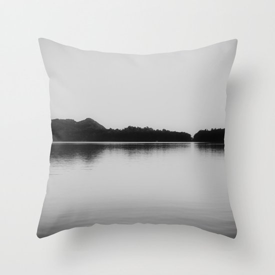 Herring Lake Black And White Throw Pillow By Kimberly Blok
