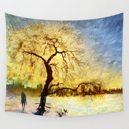 Walk Under the Willow Wall Tapestry