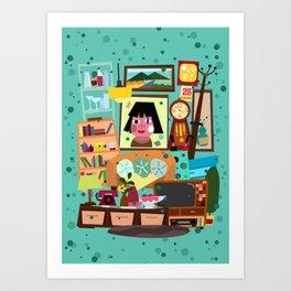 Living Retro Art Print