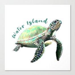 Water Island Turtle Canvas Print