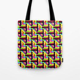 Rainbow Lattice Pattern Abstraction Tote Bag