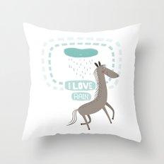 I LOVE RAIN Throw Pillow