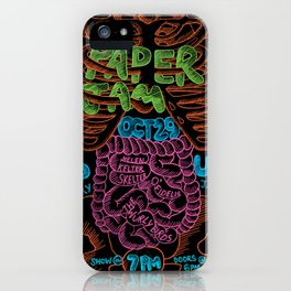 Paper Jam Poster by Aditi Panchal iPhone Case