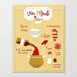 Vin Brulé - Illustrated recipe Canvas Print
