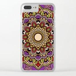 Mandala Blossom Hibiscus Clear iPhone Case