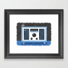 Radio Retro Framed Art Print