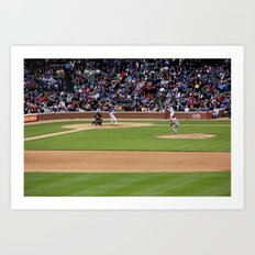chicago cubs // wrigley field Art Print