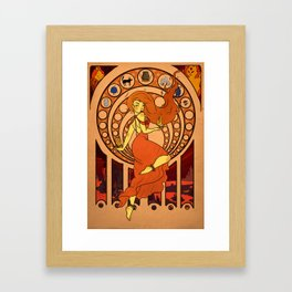 Heart of Fire Framed Art Print