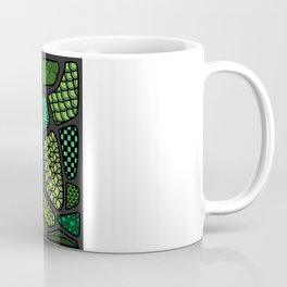 Patterned green stone floor Coffee Mug